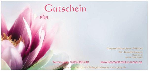 Kosmetikinstitut Michel - Geschenkgutschein