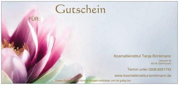Kosmetikinstitut Tanja Brinkmann - Geschenkgutschein